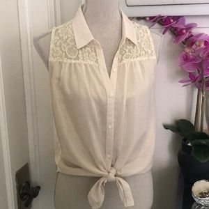 Abercrombie and Fitch sheer and lace